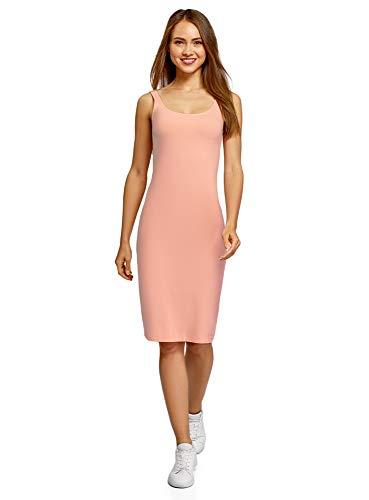 Oodji ultra donna abito canotta (pacco di 3), rosa, it 42 / eu 38 / s