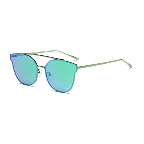 Occhiali da sole da donna uomo polarizzati -beautyjourney occhiali da sole donna rotondi vintage sunglasses cat eye-donne uomini vintage retro occhiali aviator specchio lente occhiali da sole unisex (f)