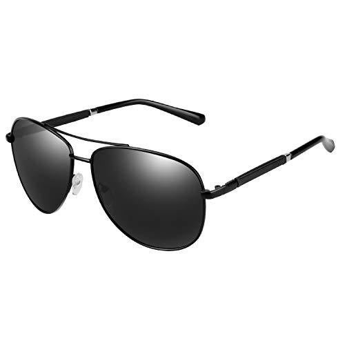 Unisex Sonnenbrille, Welltop Herren Sonnenbrille UV400 Schutz Polarisierte Sonnenbrille Fahrerbrille