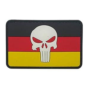 Cobra Tactical Solutions Drapeau de l'Allemagne Allemand Crâne Punisher PVC Patch Airsoft Paintball