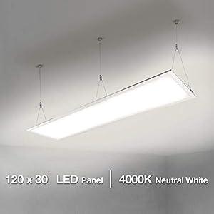 LE 120x30cm LED Panelleuchten Deckenleuchte Büroleuchte, Neutralweiß/4000K/4000lm/40W, ersetzt 80W Leuchtstoffröhren