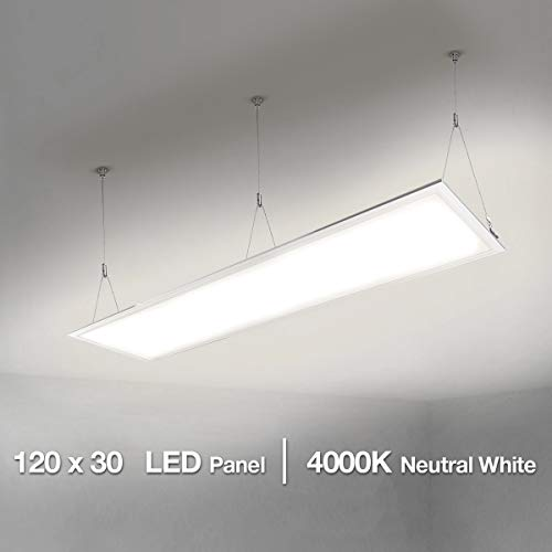 Lighting EVER Pannello LED di ricambio per tubo fluorescente da 80 W, Luce Bianca Neutra, 4000 K, 295 x 1195 mm