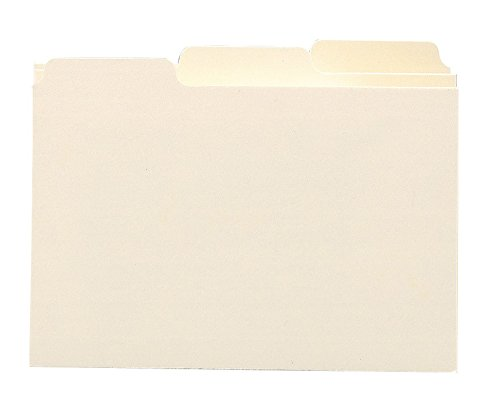 SELF TAB CARD GUIDES  BLANK  1/3 TAB  MANILA  5 X 8  100/BOX
