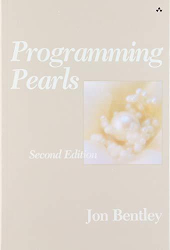 Programming Pearls (ACM Press) (Programming Acm)