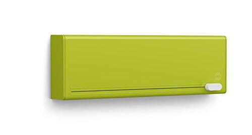 Emsa 515233 Folienschneider für 2 Folien, Wandmontage ohne Bohren, Grün, Smart