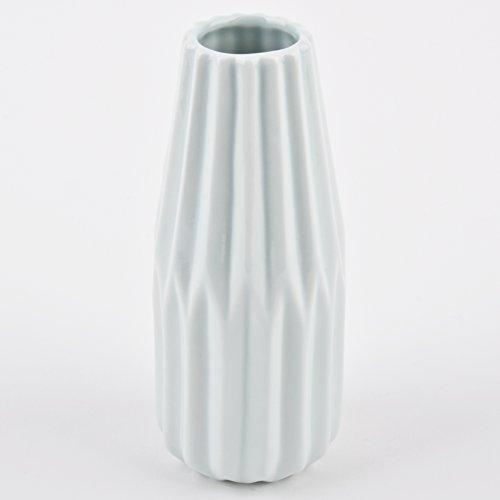 Jarrón plegable imitación Diseño redondo–Vasija decorativa de mesa de porcelana, porcelana, verde...