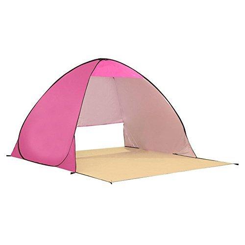 Automatico tenda 3-4 Personi Pop Up portatile esterna spiaggia campeggio tenda Sole Shelter Parasole Sport Shelter ombrellone (rosa)