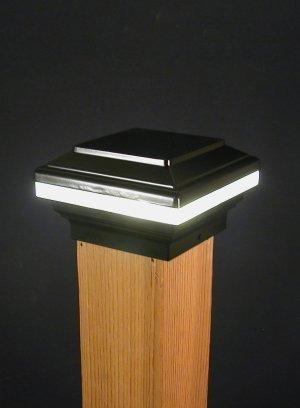 Saturn Anello 12V Deck Licht, 10,2cm Post, Schwarz - Post-low-voltage-deck