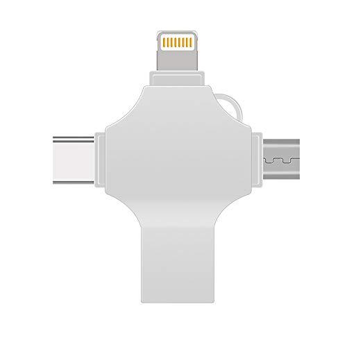 LMAYMM Vier Kreuz USB-Flash-Laufwerk, Geeigneter Metall Apfel 32 GB Andrews Typ-C USB3.0U Platten Externe Speicher Und Der Datentransfer