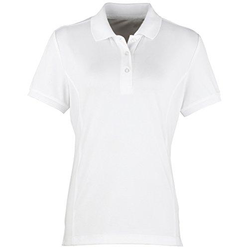 Premier Coolchecker - Polo à manches courtes - Femme Blanc