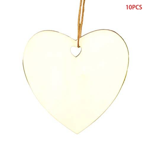 htsbaum Holz hängende Anhänger Schneeflocke Ornament Geschenke Handwerk (03) ()