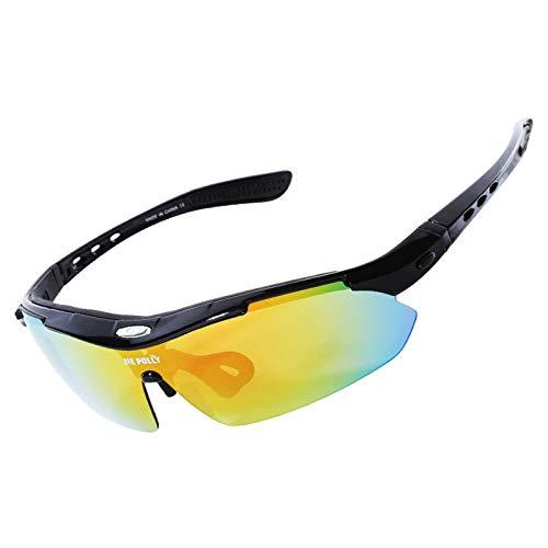 Adisaer Radbrille Mit Lesehilfe Reiten Gläser Polarisierten Outdoor Sport Bergsteigen Spiegel Radfahren Angeln Sonnenbrille Black A Damen Herren