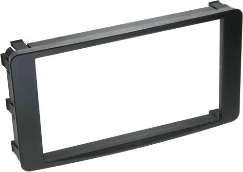 ACV 281200-03 2-DIN Radioblende für Mitsubishi Lancer/Outlander schwarz (Mitsubishi Lancer Doppel Din Kit)