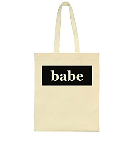 Babe. Simple Design Toile Sac Fourre-tout Tote Bag