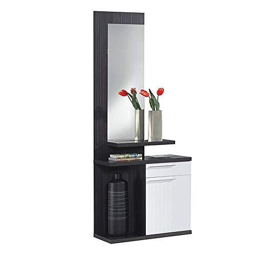 Habitdesign 016746G  Kendra - Recibidor con espejo, mueble de entrada, medidas: 186 x 61 x 29...