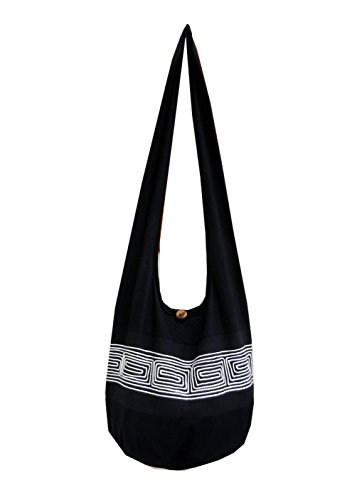 BenThai Products, Borsa a tracolla donna Nero Black ND2 large Black ND2
