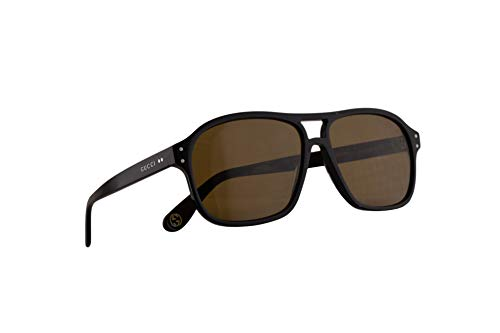 Gucci GG0475S Sonnenbrille Schwarz Mit Braunen Gläsern 58mm 001 GG0475/S 0475/S GG 0475S