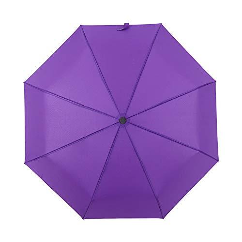 JUNDY Regenschirm Taschenschirm - sturmfest, windsicher -klein, leicht & kompakt, windsfest, Regenschirm automatisch dreifach Winddicht Verstärkungsfarbe4 114cm