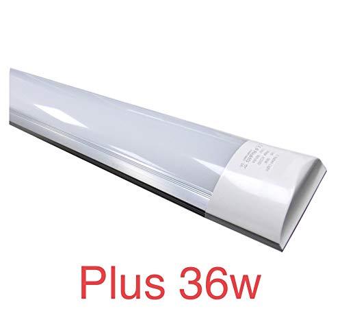 (LA) Pantalla 60cm PLUS. DOBLE POTENCIA! 36w, color blanco frio 6500K. Tubo led integrado T8 equivalente a 4 tubos fluorescentes o Led 3400lm