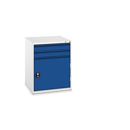 bott verso+ Schubladenschrank mit 2 Schubladen, 1 Tür und Zentralschloss, 650 x 650 x 800 mm, 1...
