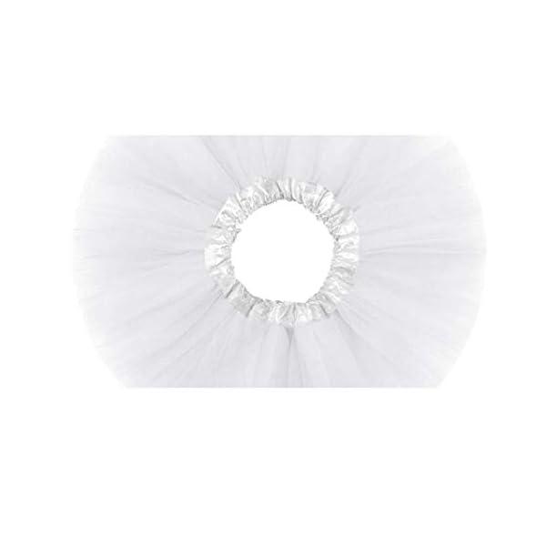 Falda del tutú de moda de 3 capas de la princesa vestido de ballet Ballet del Consejo de Medio tul moda falda de la… 4