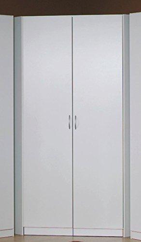 Rauch Eck-Kleiderschrank begehbar alpinweiß 117 x 117 cm