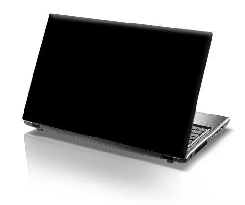 er Skin Vinyl Aufkleber mit bunten Mustern für 15 Zoll 15,6 Zoll (38cm x 25,5cm) Laptop Skin uni schwarz ()