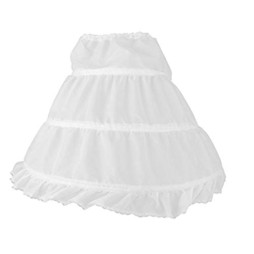 Moda crinolina sottoveste regolabile tutu sottogonna princess dress for girls bambini bianco porta carte di credito