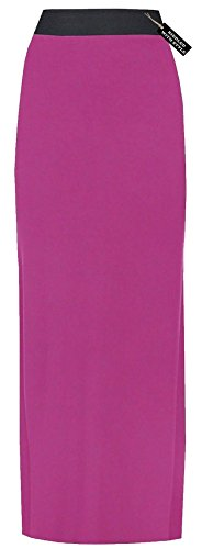 �E TRIKOT LANGES MAXIKLEID GYPSY DEHNBARES KLEID EU 44-54, Fuchsia, 48-50 (Fairies Fashion Boutique)