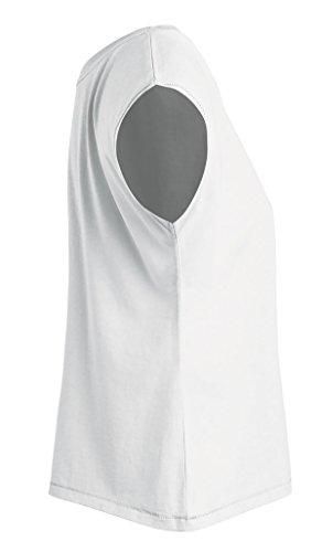 YTWOO Oversize Damen T-Shirt Aus 100% Bio-Baumwolle, Weit Geschnittenes Damen T-Shirt mit U-Ausschnitt, Oversize Damen Shirt Weiß