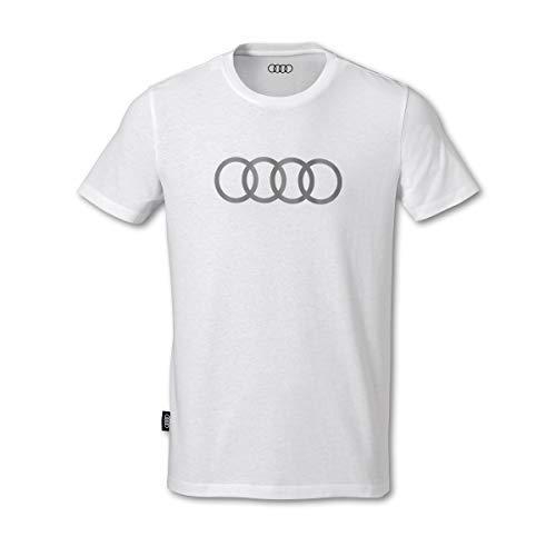Audi Herren T-Shirt Ringe weiß (L)
