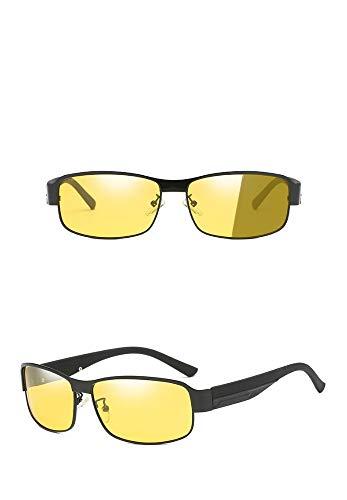 Männliche Anti-High-Beam-Nachtsichtbrille mit polarisierter Sonnenbrille, Schwarzrahmen-Nachtsichtgerät