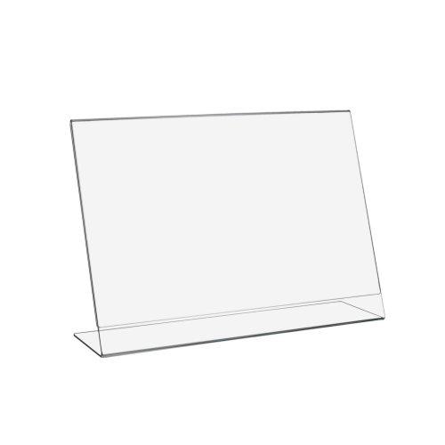 DIN A3 L-Ständer / Werbeaufsteller im Querformat aus Acrylglas - Zeigis