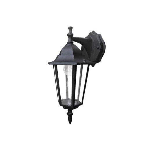 Applique in basso  lampada da parete a lanterna moderna da esterno nero