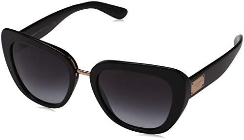 Dolce & Gabbana Damen 0DG4296 501/8G 53 Sonnenbrille, Schwarz (Black/Gradient),