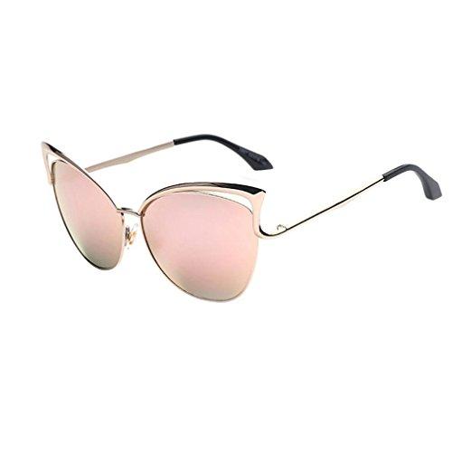 VENMO Gato Oído Gafas de Sol con Diseño de Moda Retro Para Mujer (Color de rosa)