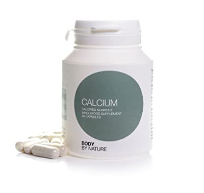Body By Nature Supplements, Calcium, 90 Capsules, Wholefood Calcium is an organic multimineral seaweed product, harvested off Ireland's south-west coast, Wholefood Calcium carries Organic Trust Certification and is a wholefood product with no additives. E