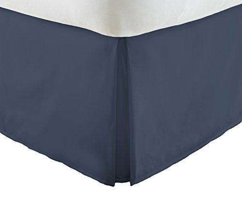 ienjoy Home Becky Cameron Luxus Bundfaltenhose Staub Rüsche Bett Rock, Navy, Volle Größe