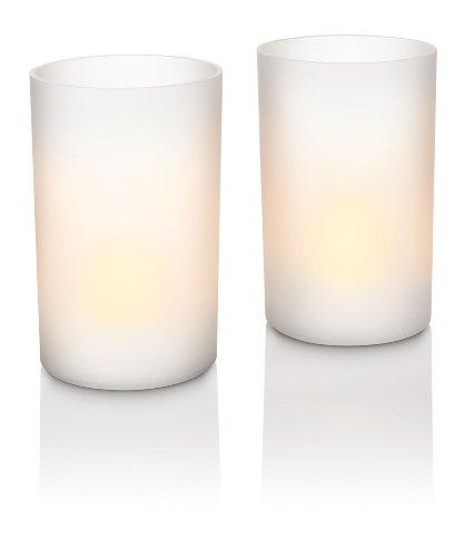 Philips Imageo CandleLights - Set de 2 lámparas tipo vela decorativa, iluminación de interior, LED, color blanco