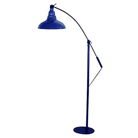 Cocoweb 20 cm Dahlia LED Industrial Floor Lamp - Cobalt Blue
