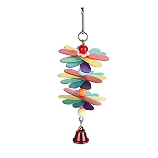 fdit pet bird parrot colorful beads bell toys chewing climb toy swing cage accessory decor pendant Fdit Pet Bird Parrot Colorful Beads Bell Toys Chewing Climb Toy Swing Cage Accessory Decor Pendant 31m 2BvcIWnaL