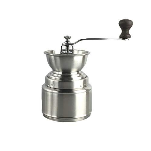 Kaffeemühle Manuelle Kaffeemühle Edelstahl Grinder Hand Shake Schwarz Pfeffermühle waschbar 9,5 * 16,5 cm