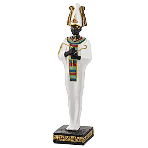 Design Toscano Osiris, Gottheit des Alten Ägypten Statue, Polyresin, Vollfarbe 21.5 cm