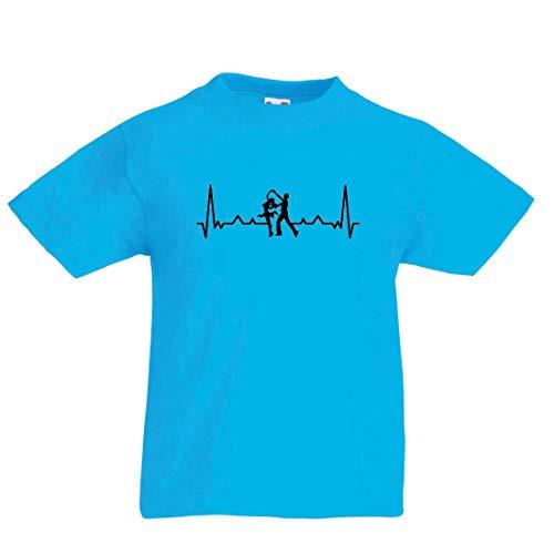 lepni.me Kinder Jungen/Mädchen T-Shirt Tanzen mit Herzschlag, Tanz-Liebhaber-Shirt, Tänzer-Outfit (9-11 Years Hellblau Mehrfarben)