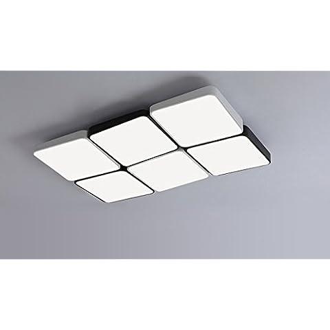 Ooccasion Moderno E Minimalista Rettangolare Di Soggiorno Luminoso E Accogliente Creative Led Luce A Soffitto (Peltro Spazzolato Due Luce)