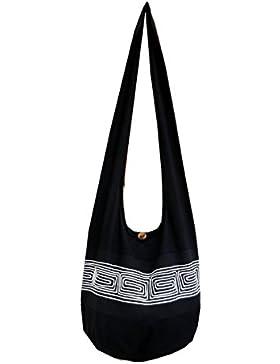 BenThai Products, Borsa a tracolla donna Nero nero large