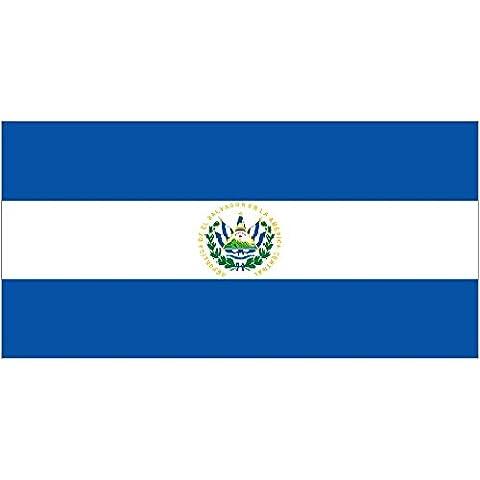El Salvador 45,7x 30,5cm mano Waving flag su legno Stick