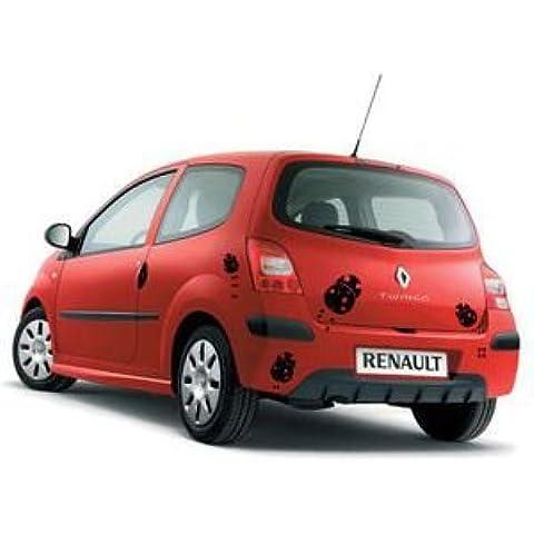 Adesivo auto Coccinelle monocromatiche–gravissimo, Specchio, H50cm x L50cm - Coccinella Specchio