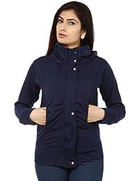 Teemoods Women's Fleece Cotton Blend Full Sleeves Sweatshirt Hoodie Jacket with Zip for Ladies