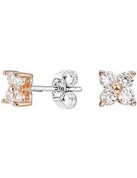 Esprit Ohrringe ESER92700A000 Damen Ohrstecker ES-DELICATE BLOSSOM ROSE Sterling-Silber 925 Weiß Zirkonia